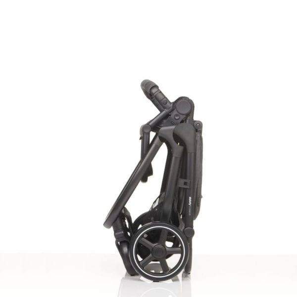 didofy pushchair cosmos black folded up