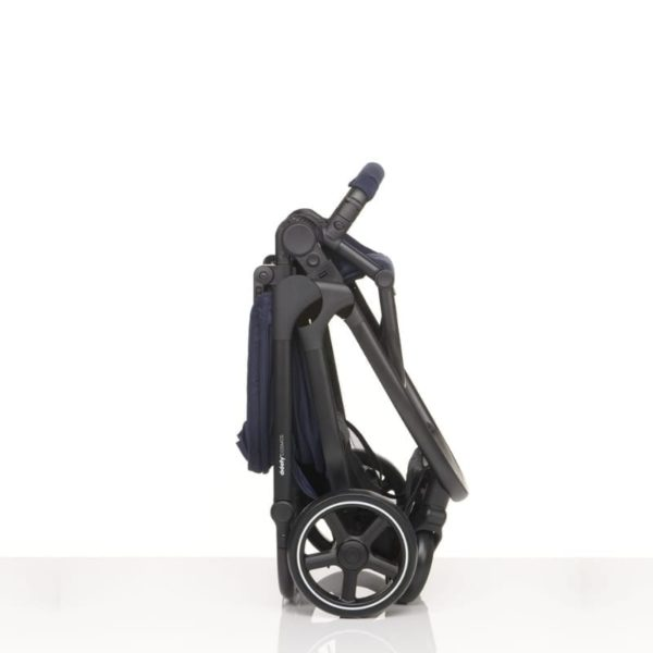 didofy pushchair cosmos navy folded up