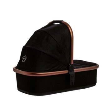 Cosmos Bloom Carrycot Midnight Black back
