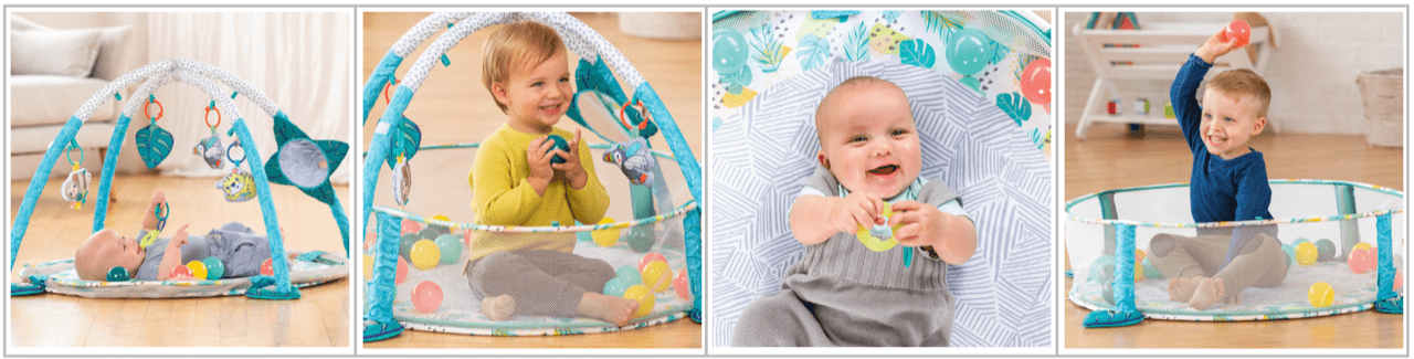 Infantino 3-in-1 Jumbo Activity Gym and Ball Pit