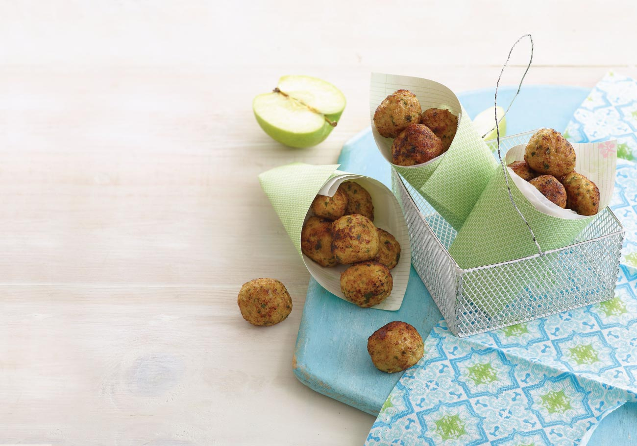 Chicken and Apple Balls – By leading children's cookery author Annabel Karmel