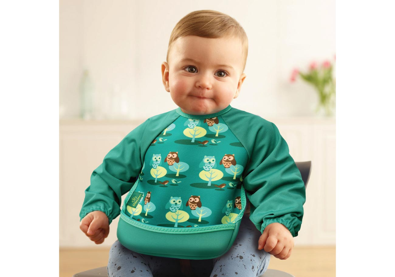 UltraBib with Sleeves – Forest Green Owls