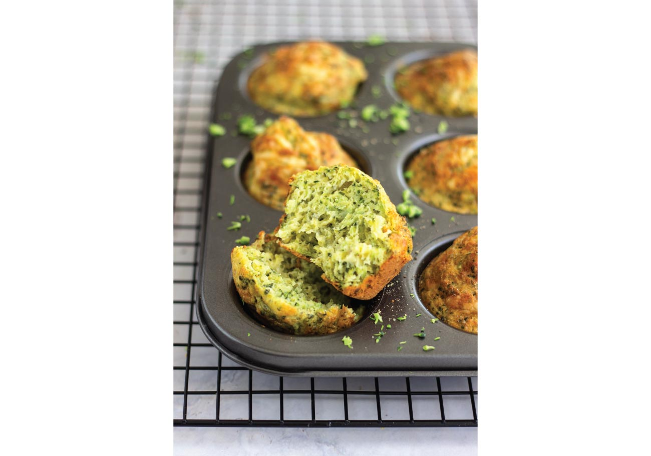 Spiced Broccoli and Cheese Muffins